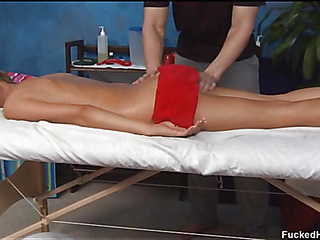 Cute 18 year old oriental cutie receives fucked hard by her massage therapist