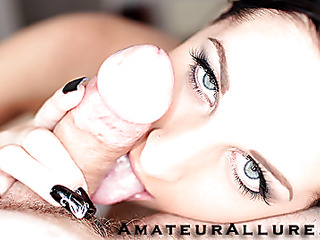 Racquel is a charming 20 year old darksome brown, with all natural milk cans and a tiny bald cookie.  This Sweetheart is a total weenie sucking freak, that can't seem to receive enough cum in her mouth. When u see what this honey does to my weenie u will understand. That Sweetheart rode my cock like a pro and then I flipped her over and stretched her cunt good. We had a banging precious time and that honey swallowed a sticky load.
