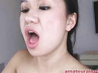 Carmina is an asian floozy without gag reflex. This Honey takes a cock all the way down her face aperture and holds it for a during the time that. Then Carmina acquires her bald cum-hole drilled then the cock goes right back into her mouth. This Honey jerks off Thoma