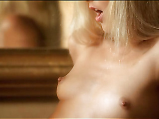 Babe is demonstrating delights and touching new soaked gap