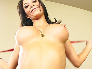 Malezia has a charming heart shaped booty that just looks great when u're fucking her from behind.  These firm booty cheeks are heaven to look at as that playgirl lowers her slit onto a waiting dong.  These lascivious Latin bitch takes a large load of cum on her meatballs and tight tummy.