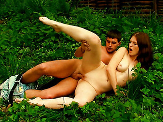 This cute redhead teen has a natural hotty about her, so what more nice place for a sex filled adventure than outdoors. They indeed discovered a hawt and steamy way to have a enjoyment nature. This Chick looks so cute and virginal, but this sweetheart can`t await to get undressed with this stud. This Chick doesn`t care if they`re outdoors and there`s a chance that they`ll get caught. All this sweetheart cares about is getting the raunchy gratification that this sweetheart needs. And beautiful in a short time that babe`s getting that gratification in the form of his meaty cock pounding her constricted, tender vagina.