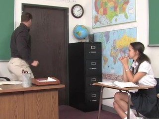 Teacher thinks it is time for his student to try a older pecker