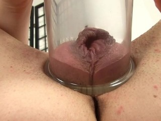Placing a pump on her fur pie creates wild pleasures for playgirl