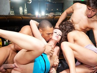 Enjoy this mind-blowing party sex scene with filthy obscene-minded college babes who always wish more