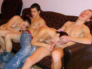 Those bawdy and messy-minded youthful student girls and boys know the most good way to relax after classes!