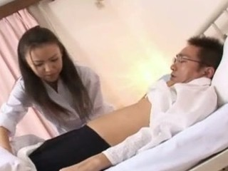 Shinobu Todaka gets felt out by a doctor here letting him mess with her lovely bushy vagina and then this hottie ends up getting drilled like mad!