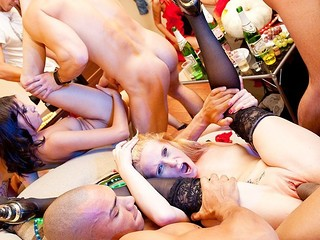 The best time for a kick-butt college sex party? Halloween, no doubt about that! See and have a fun!
