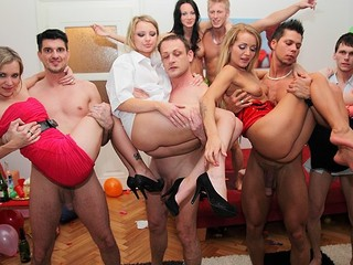 Even wonderful and decent angels turn into hawt college harlots at student sex parties! See what they're capable of!