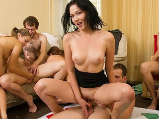 Concupiscent students adore hawt celebrations. They disrobe and plunge into sexual group fuckfest in sexy student sex party movie.